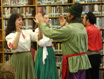 Folk Dancers at a Library Program for families